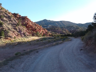 Road to Thunderbird Gardens trailhead