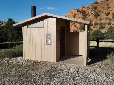 Outhouse at Thunderbird Gardens