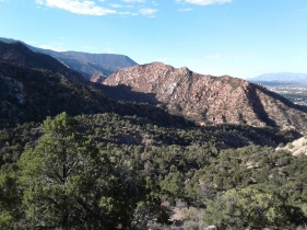 View towards Thor's Hideout from the Lightning Switch trail