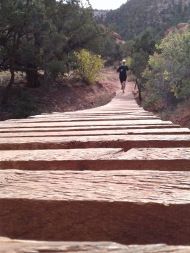 Wooden bridge on the Thor's Hideout trail